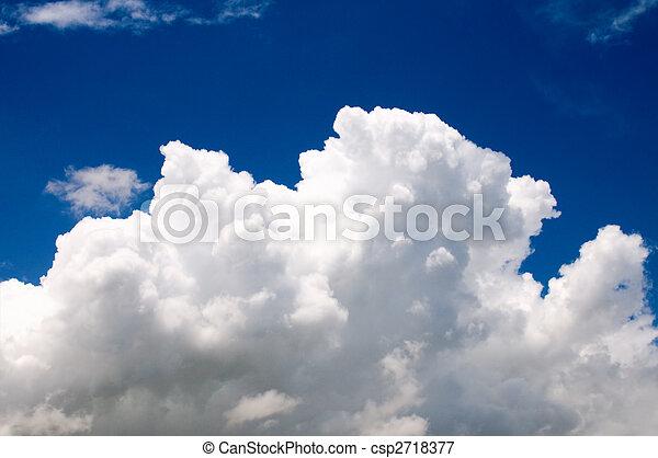 Cotton like cloudy sky - csp2718377