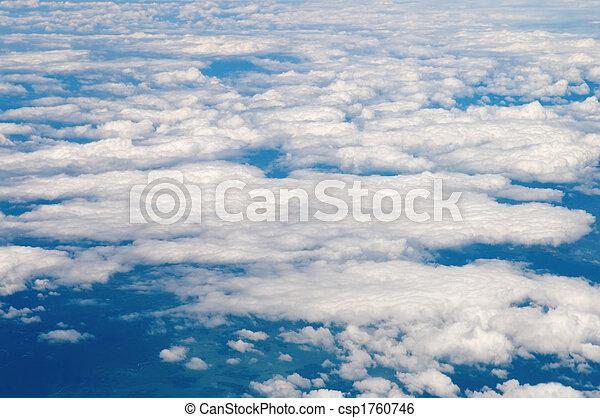 Cotton like cloudy sky - csp1760746