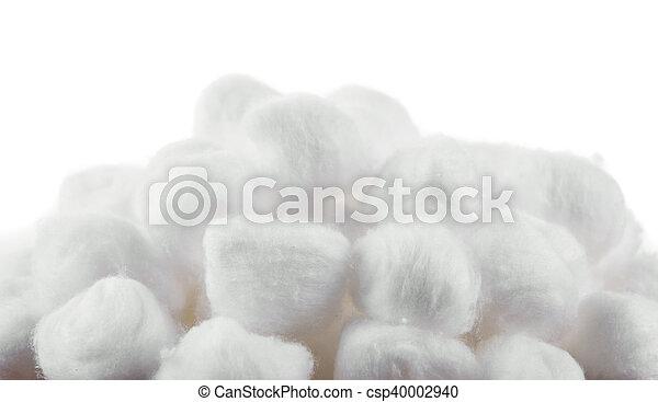 cotton on white background - csp40002940
