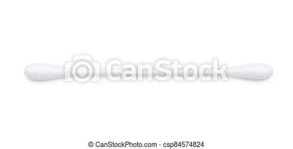 Cotton swabs on a white background - csp84574824