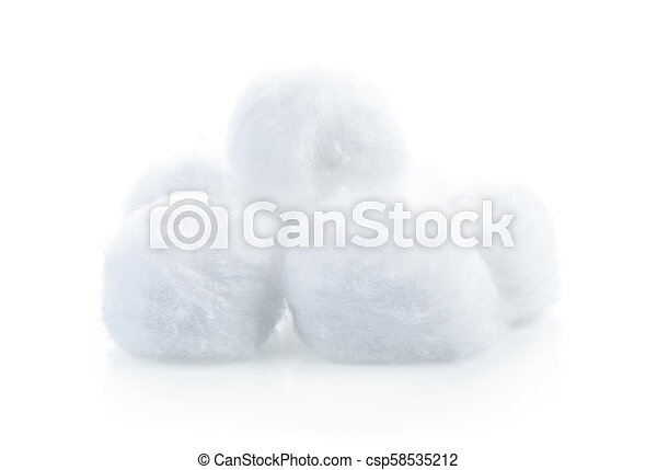cotton wool isolate on white background - csp58535212