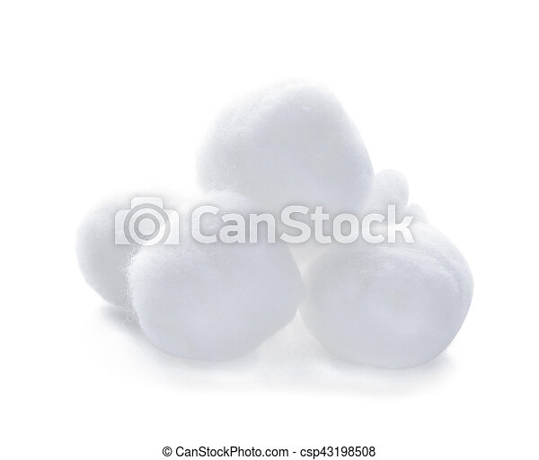 cotton wool isolated on a white background - csp43198508