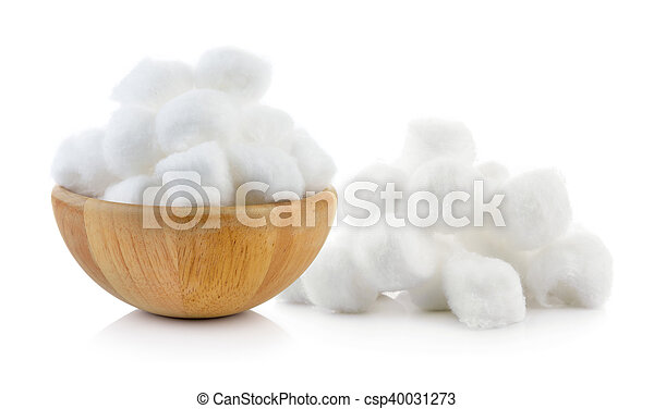 cotton wool on a white background - csp40031273