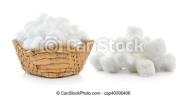 cotton wool on a white background - csp40006406