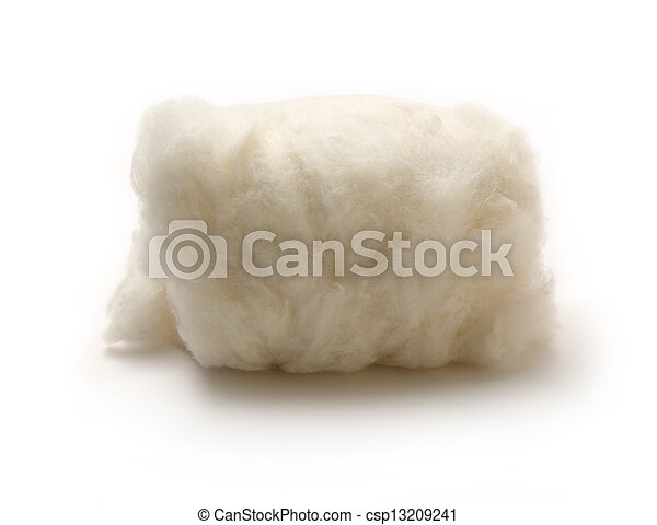 Cotton wool on the white background - csp13209241