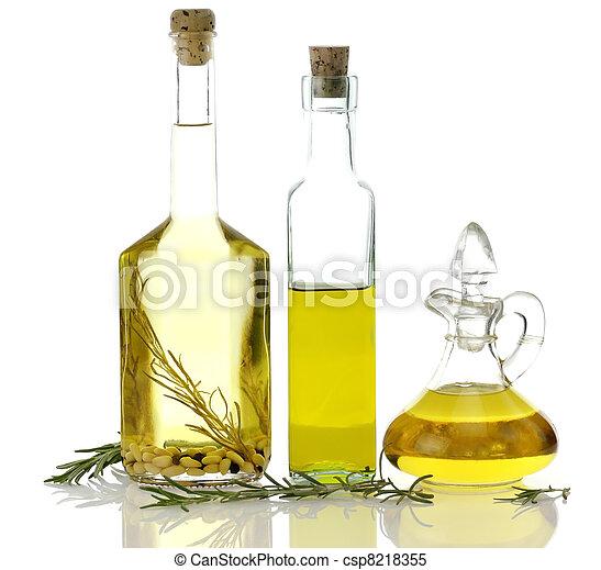 cottura, bottiglie, olio - csp8218355