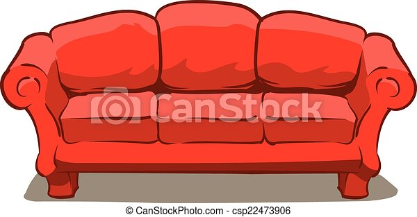 an illustration of a big comfy red couch vector clipart search rh canstockphoto com sectional couch clip art couch clipart black and white
