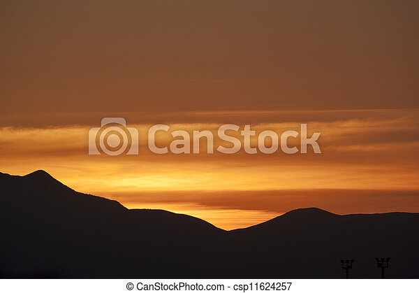 coucher soleil, bis - csp11624257