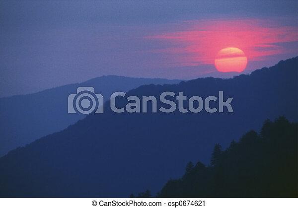 coucher soleil - csp0674621