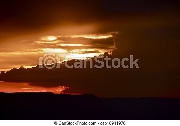 coucher soleil - csp16941976