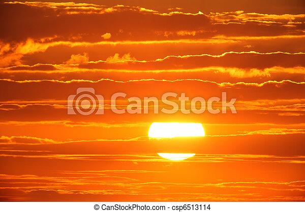 coucher soleil - csp6513114