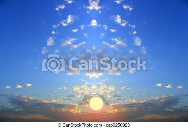 couchers de soleil, fiction - csp0250923