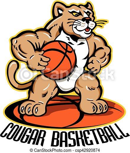 cougar basketball - csp42920874