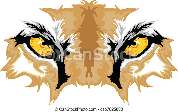 Cougar Eyes Mascot Graphic - csp7625838
