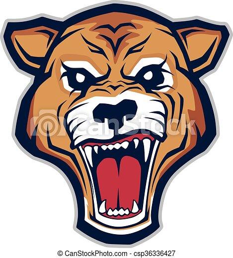 Cougar head mascot - csp36336427
