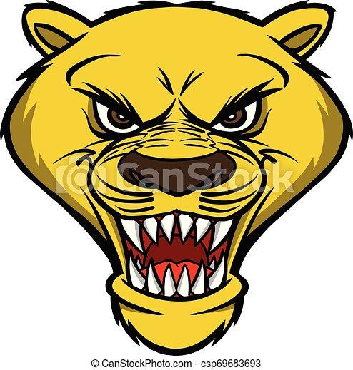Cougar Mascot Head - csp69683693
