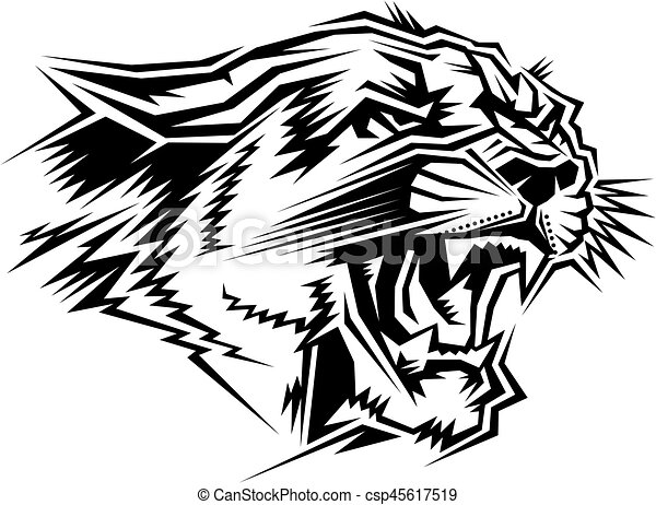 stylized cougar mascot head for school college or league rh canstockphoto com free cougar clipart mascot Panther Mascot