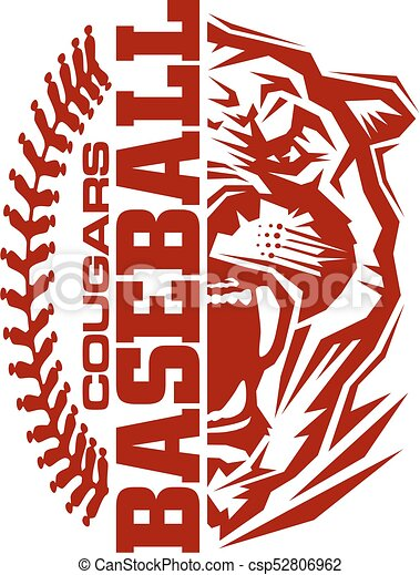 cougars baseball team design with stitches and half mascot cougar clip art images cougar clip art templates