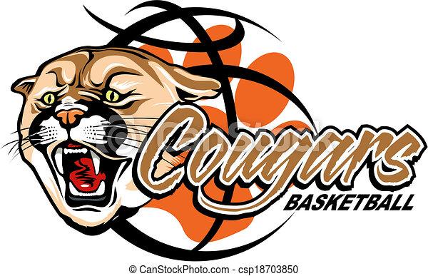 cougars basketball - csp18703850