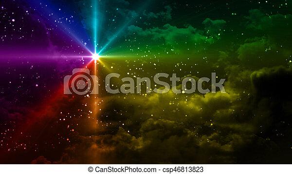 Couleur étoilé Nuit étoile Arc En Ciel
