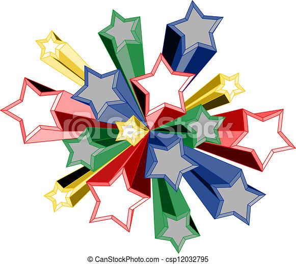 couleur, étoile - csp12032795
