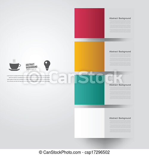 couleur, arrière-plan., résumé, vecteur, carrée - csp17296502