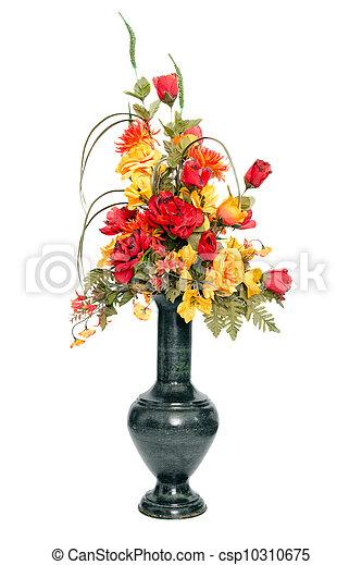 couleur, automne, fleur soie, arrangement - csp10310675
