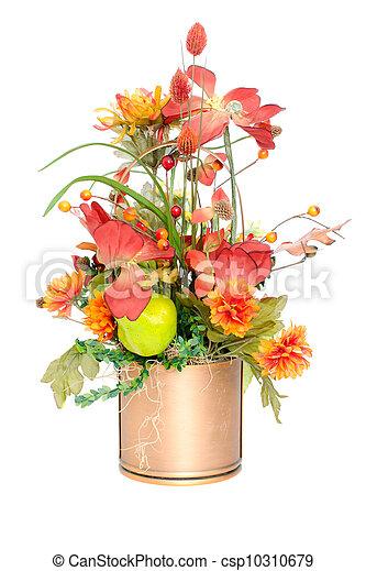 couleur, automne, fleur soie, arrangement - csp10310679