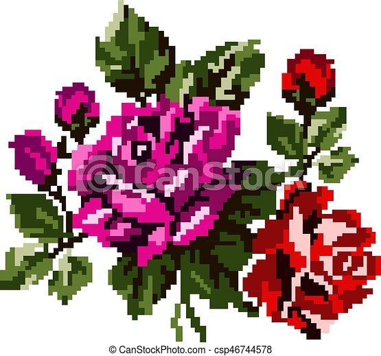 Dessin Pixel Fleur
