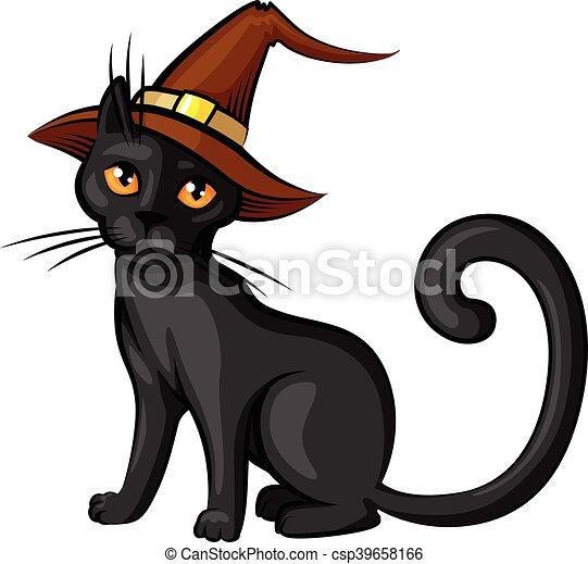 Couleur chapeau dessin anim contour chat couleur - Dessin contour ...