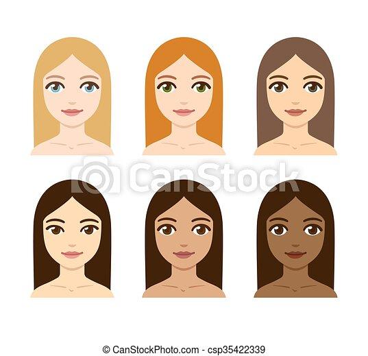 Couleur Cheveux Femmes Peau Vari 233 T 233 Peau Diff 233 Rent