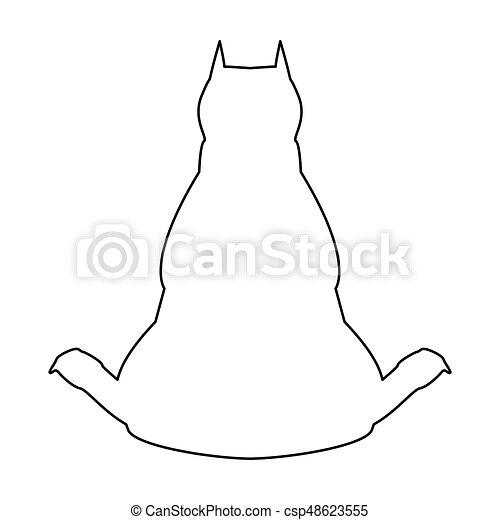 couleur chien dos noir ic ne vue couleur chien dos clipart vectoriel rechercher. Black Bedroom Furniture Sets. Home Design Ideas