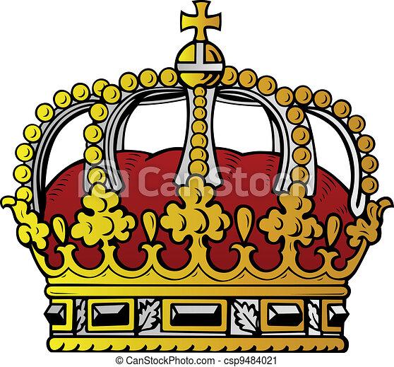 Couleur couronne couleur blanc couronne isol fond - Clipart couronne ...