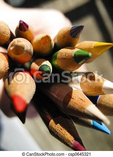 couleur, crayons, 2 - csp0645321