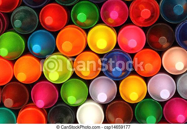 couleur, crayons, gros plan, fond - csp14659177
