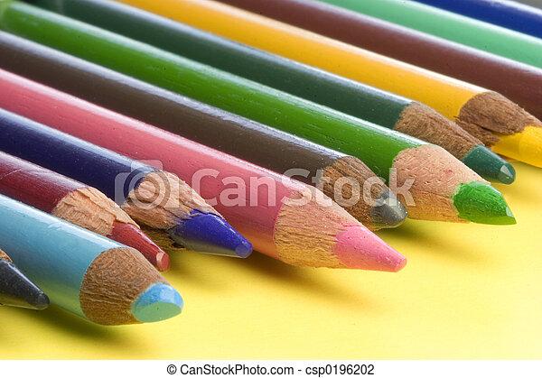 couleur, crayons - csp0196202