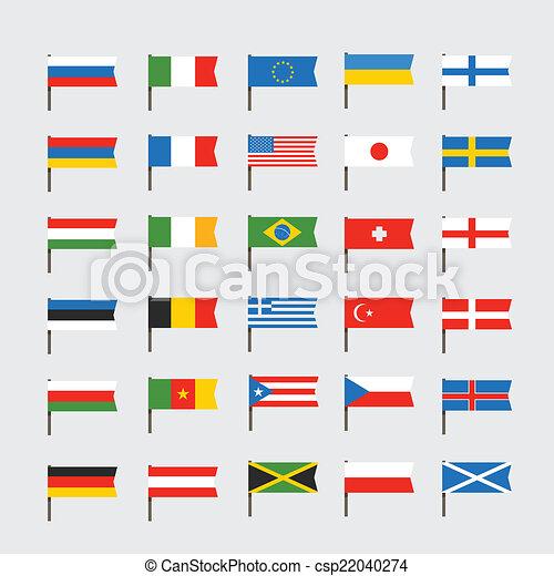 couleur diff rent drapeaux clip art countries. Black Bedroom Furniture Sets. Home Design Ideas