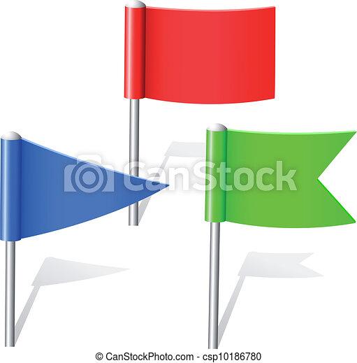 couleur, epingles, drapeau - csp10186780