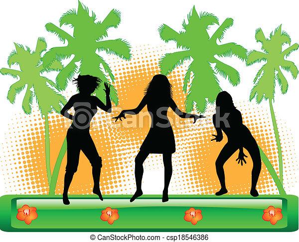 couleur, fête, plage, -, illustration - csp18546386
