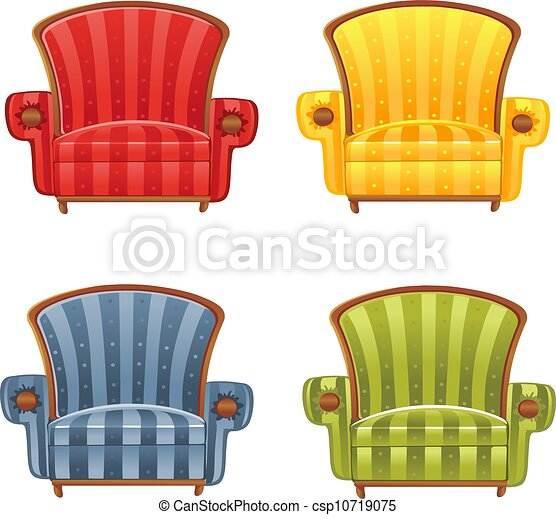couleur, fauteuil, clair, vecteur - csp10719075