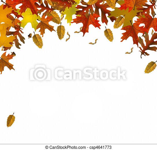Couleur feuilles automne feuilles fond illustration dessins rechercher clipart - Feuille automne dessin ...
