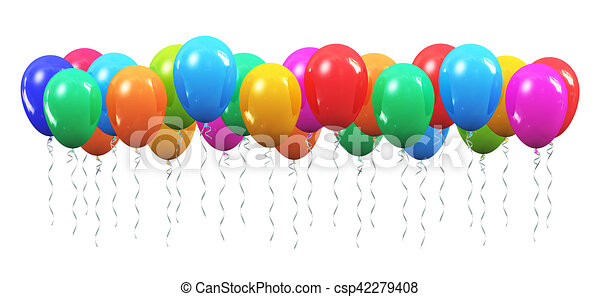 Couleur Gonflable Ballons Air Balles Celebration Render