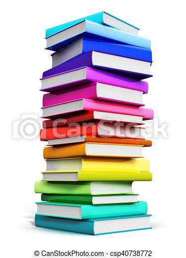 Couleur Grand Livres Pile Livre Cartonne