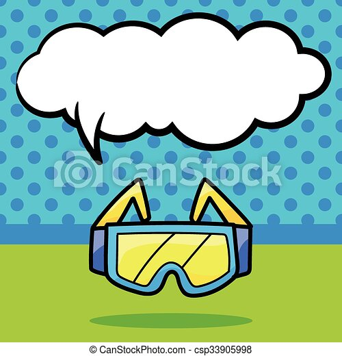 couleur, griffonnage, lunette protectrice - csp33905998