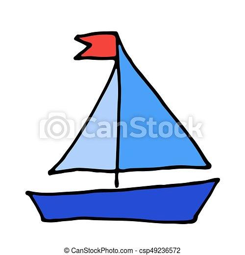 Couleur Griffonnage Yacht Vecteur Dessine Icon Bateau Bateau Couleur Griffonnage Yacht Vector Dessine Icon Canstock