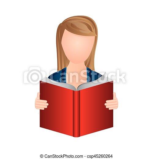 Couleur Lire Femme Livre Icone