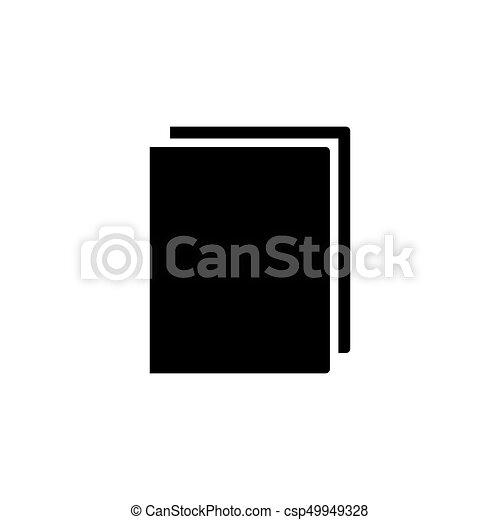 Couleur Livre Noir Icone