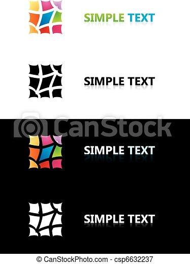 couleur, logo, templates., tile. - csp6632237
