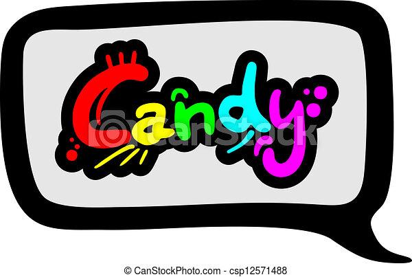 couleur, message, bonbon - csp12571488