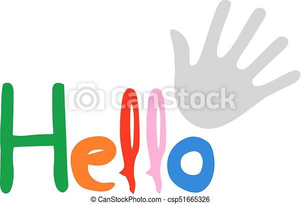 couleur, message, bonjour - csp51665326